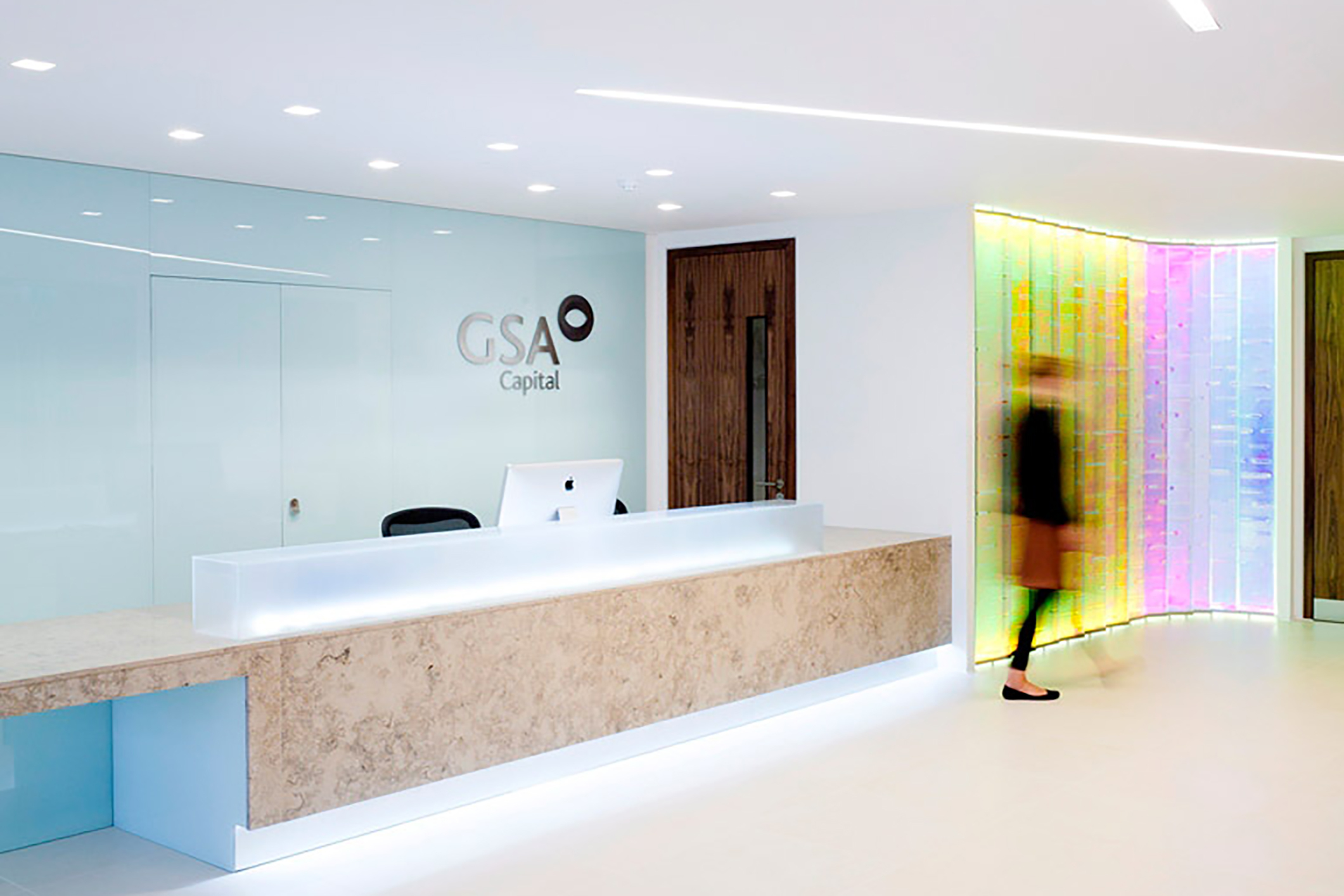 office feature wall. This Spectacular Feature Wall Creates An Ultra Modern And Slick Backdrop To The Reception Area Of These Prestigious City Centre Offices. Office