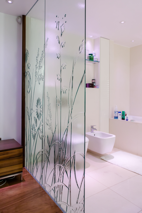 Creative Float Glass Design For, Glass Bathroom Partition Walls